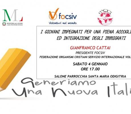 Generiamo Una Nuova Italia  Incontro 4 gennaio 2020 Reggio C.