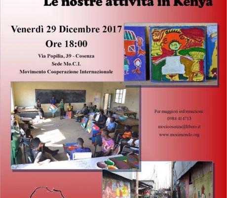 RaccontiaMoCI le nostre attività in Kenya